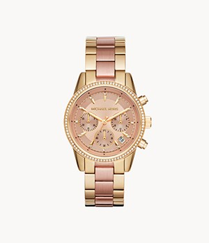 Michael Kors Ritz Chronograph Two-Tone Steel Watch