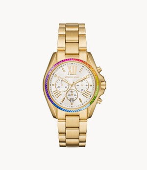 Michael Kors Women's Bradshaw Chronograph Gold-Tone Stainless Steel Watch