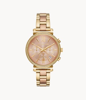 Michael Kors Women's Sofie Chronograph Two-Tone Stainless Steel Watch
