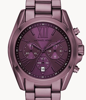 Michael Kors Women's Bradshaw Chronograph Purple Stainless Steel Watch