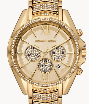 Michael Kors Women's Whitney Chronograph Gold-Tone Stainless Steel Watch