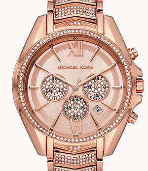 Michael Kors Women's Whitney Chronograph Rose Gold-Tone Stainless Steel Watch