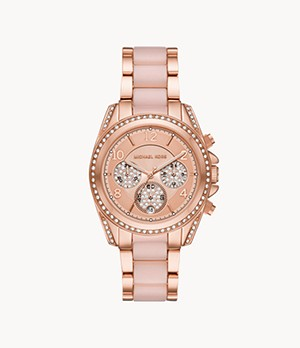 Michael Kors Blair Chronograph Rose Gold-Tone Stainless Steel Watch