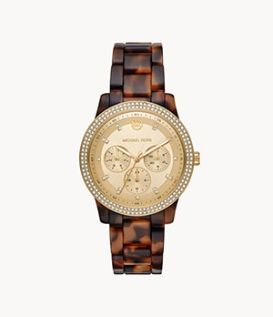 Michael Kors Tibby Multifunction Tortoise Acetate Watch