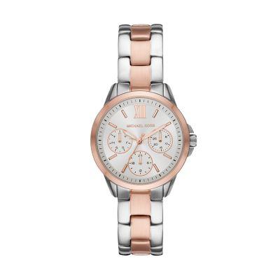 Michael Kors Mini Bradshaw Multifunction Two-Tone Stainless Steel Watch - MK6817 - Watch Station