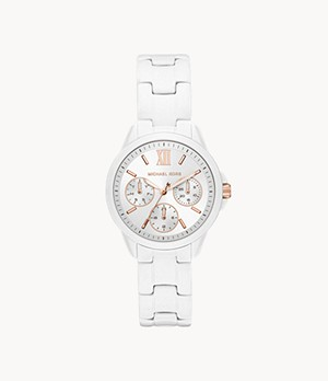 Michael Kors Mini Bradshaw Multifunction White Stainless Steel Watch