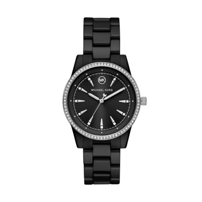 Michael Kors Ritz Three-Hand Black Ceramic Watch - MK6836 - Watch Station
