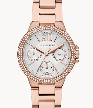 Michael Kors Camille Multifunction Rose Gold-Tone Stainless Steel Watch