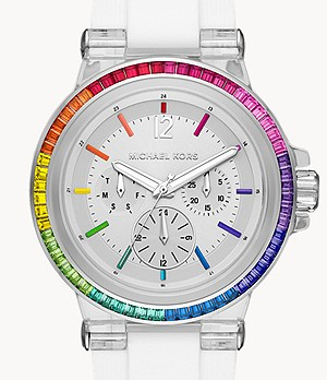 Michael Kors Dylan Multifunction White Silicone Watch