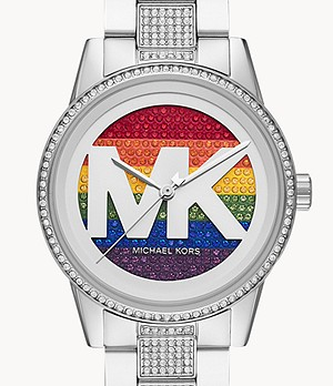 Michael Kors Ritz Three-Hand Stainless Steel Watch