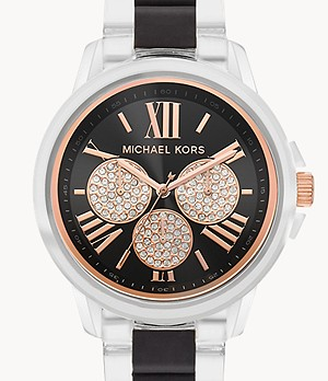 Michael Kors Bradshaw Multifunction Clear Nylon Watch