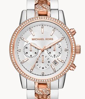 Michael Kors Ritz Chronograph Two-Tone Stainless Steel Watch
