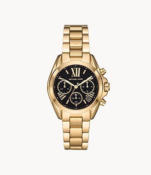 Michael Kors Bradshaw Chronograph Gold-Tone Stainless Steel Watch