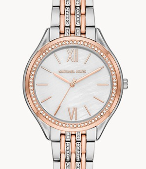 Michael Kors Women's Mindy Three-Hand Two-Tone Steel Watch