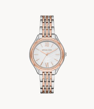 Michael Kors Women's Mindy Three-Hand Two-Tone Stainless Steel Watch