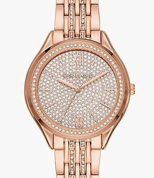 Michael Kors Women's Mindy Three-Hand Rose Gold-Tone Stainless Steel Watch