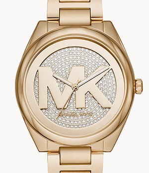 Michael Kors Women's Janelle Three-Hand Gold-Tone Stainless Steel Watch
