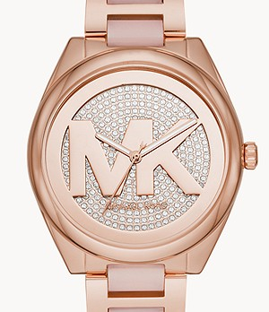 Michael Kors Women's Janelle Three-Hand Two-Tone Stainless Steel Watch
