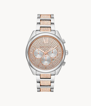 Michael Kors Women's Janelle Chronograph Stainless Steel Watch