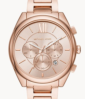 Michael Kors Women's Jan Chronograph Rose Gold-Tone Stainless Steel Watch