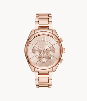 Michael Kors Women's Janelle Chronograph Rose Gold-Tone Stainless Steel Watch