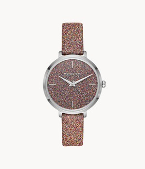 Michael Kors Women's Charley Three-Hand Multicolor Leather Watch