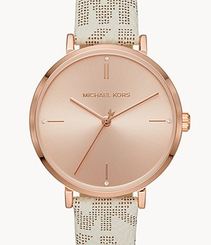 Michael Kors Jayne Three-Hand Vanilla Watch