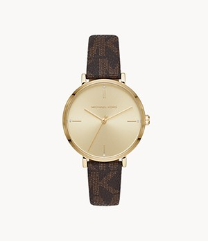 Michael Kors Jayne Three-Hand Brown Watch