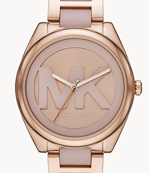 Michael Kors Janelle Three-Hand Two-Tone Stainless Steel Watch
