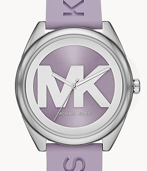 Michael Kors Janelle Three-Hand Lavender Silicone Watch