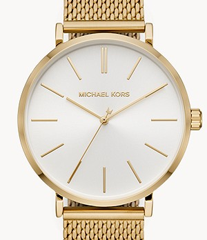 Michael Kors Auden Three-Hand Gold-Tone Stainless Steel Watch