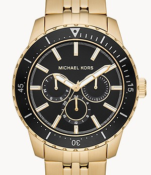 Michael Kors Cunningham Multifunction Gold-Tone Steel Watch