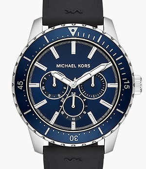 Michael Kors Cunningham Multifunction Black Silicone Watch