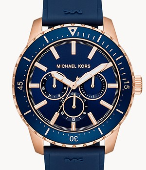 Michael Kors Cunningham Multifunction Navy Silicone Watch