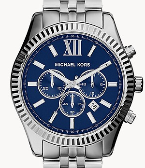 Michael Kors Men's Silver-Tone Lexington Watch