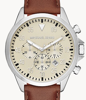 Michael Kors Men's Gage Chronograph Brown Leather Watch