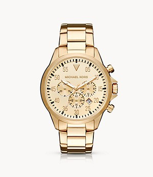 Michael Kors Men's Gage Chronograph Gold-Tone Stainless Steel Watch