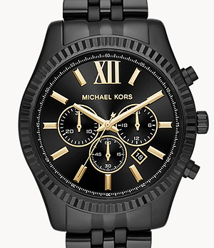 Michael Kors Men's Lexington Black IP Watch