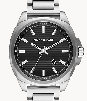 Michael Kors Men's Bryson Three-Hand Date Stainless Steel Watch