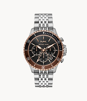 Michael Kors Men's Bayville Chronograph Stainless Steel Watch