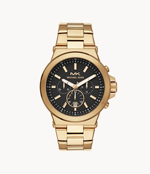 Michael Kors Men's Dylan Chronograph Gold-Tone Stainless Steel Watch