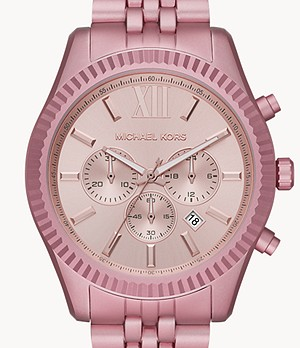 Michael Kors Lexington Chronograph Pale Pink Aluminum Watch