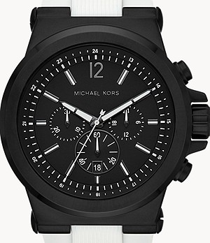 Michael Kors Dylan Chronograph White Silicone Watch