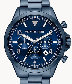 Michael Kors Gage Chronograph Navy Stainless Steel Watch