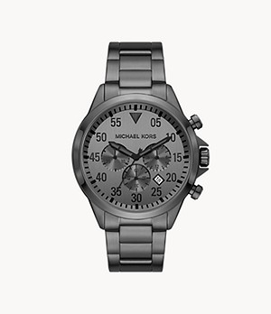 Michael Kors Thompkins Chronograph Gunmetal Stainless Steel Watch