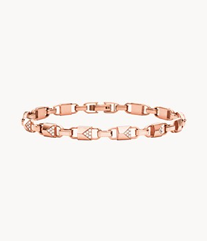 Michael Kors Women's 14k Rose Gold-plated Sterling Silver And Pave Bracelet