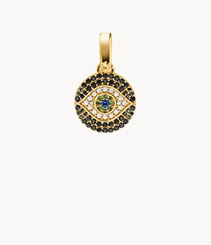Michael Kors Women's 14k Gold-plated Sterling Silver Evil Eye Charm