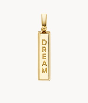 Michael Kors Women's 14k Gold-plated Sterling Silver Dream Charm