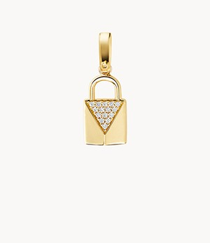 Michael Kors Women's 14k Gold-plated Sterling Silver Padlock Charm