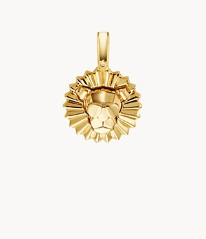 Michael Kors Women's 14k Gold-plated Sterling Silver Lion Charm